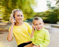 Calling Family Royalty Free Stock Image - 59198506