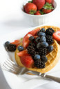 Waffles With Fruit Royalty Free Stock Photos - 5922078