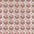 Antique Pink And Red Shabby Chic Rose Repeat Pattern Wallpaper Royalty Free Stock Photos - 59208058