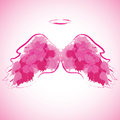 Angel Nimbus And Wings. Stock Images - 59211274