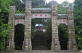 Traditional Chinese Gate In Park Of Mountain Lu Royalty Free Stock Photography - 59212237