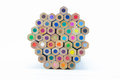 Wooden Multiple Colour Pencils Bottom View Stock Image - 59226131