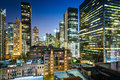 View Of Buildings In Midtown East At Night, In Manhattan, New Yo Stock Photo - 59242150