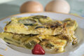 Omelette With Zucchini From Organic Eggs Stock Photography - 59247012