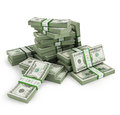 Many Bill Stacks Royalty Free Stock Photo - 59254165