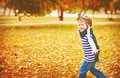 Happy Child Playing Pilot Aviator Outdoors In Autumn Royalty Free Stock Photography - 59262337