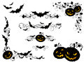 Halloween Vintage Page Decorations And Dividers. Royalty Free Stock Images - 59269889