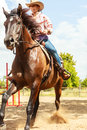 Western Cowgirl Woman Riding Horse. Sport Activity Stock Photo - 59275140
