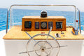 Sailing Yacht Control Wheel And Navigation Implement. Stock Photos - 59299733