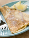 Folded Pancakes With Lemon And Sugar Royalty Free Stock Image - 5932036