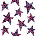 Seamless Pattern With Leopard Stars, Trendy Rock Or Punk Design,  Royalty Free Stock Photo - 59314455