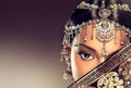 Beautiful Indian Women Portrait With Jewelry. Royalty Free Stock Images - 59315129