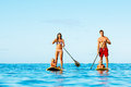 Family Fun, Stand Up Paddling Royalty Free Stock Photography - 59332147