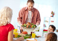 Man With Roasted Turkey Stock Images - 59334814