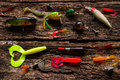 Bait Fishing On The Wooden Stock Photo - 59341620