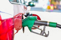 Refueling A Red Car At The Gas Station. Stock Image - 59344411