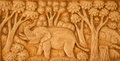 Carved Thai Elephant Royalty Free Stock Photography - 59348617