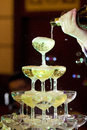 Champagne Tower Wedding Royalty Free Stock Photo - 59348965