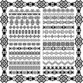 Set Of Borders In Ethnic Tribal Style. 30 Pattern Brushes Inside Stock Photo - 59359250