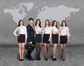 Business People Team With World Map Stock Photography - 59381162