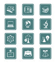 Education Icons | TEAL Series Royalty Free Stock Photography - 5941097