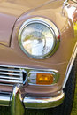 Headlight In Red England Mini Vintage Car Royalty Free Stock Images - 5943349