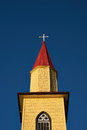 Yellow Church In The Chilean Lake District Royalty Free Stock Images - 59423489
