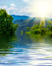 Surface Rippled Of Water And Blur Nature Background Stock Photos - 59433413