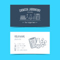 Business Cards For Chemical Laboratory And Scientific Companies. Promotional Products. Vector Stock Images - 59439914