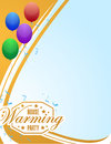 House Warming Party Balloons Background Sign Card Stock Photo - 59454210