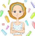 Girl With Problem Skin Royalty Free Stock Photography - 59466767