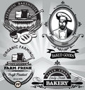 Set Of Emblems On The Subject Baking With The Baker Harvester Stock Photography - 59477282