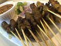 Mixed Chicken And Beef Satay Royalty Free Stock Photo - 59480985
