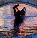 Gondola In Venice With Beautiful Colors On The Watersurface Stock Image - 59481911