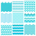 Collection Of Marine Waves. Sea Wavy, Ocean Art Water Design. Royalty Free Stock Photos - 59491858