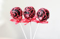 Wedding Cake On A Stick With Pink Ornament. Stock Photography - 59496362