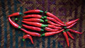 Red Fish Consist Of Chillies Stock Photography - 5954582