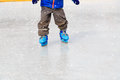 Child Feet Learning To Skate On Ice In Winter Stock Photo - 59506000