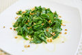 Spinach Salad With Walnuts Stock Images - 59509534