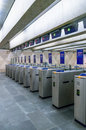 Turnstiles On An Entrance To The Subway Royalty Free Stock Image - 59547086