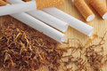 Empty Cigarette Tubes And Tobacco Royalty Free Stock Image - 59550716