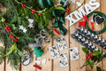 Crafting And Advent Garland Stock Photos - 59556143