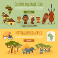 Africa 2 Flat Banners Set Stock Images - 59558684