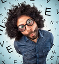 Man With Thick Glasses Stock Photo - 59575230