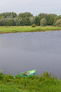 Pond With Rowing Boat Stock Images - 59576904