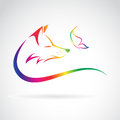 Vector Image Of Fox And Butterfly Royalty Free Stock Photo - 59579775