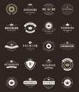 Retro Vintage Premium Quality Labels And Crowns Royalty Free Stock Photo - 59589055