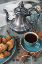 Coffee And Croissants Royalty Free Stock Photography - 59589547