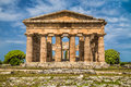 Temple Of Hera At Famous Paestum Archaeological Site, Campania, Italy Royalty Free Stock Photography - 59598587