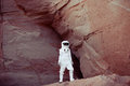 Futuristic Astronaut On Another Planet, Image With Stock Photo - 59601900